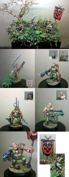Warhammer 40k, Imperial Guard, Astra Militarum, Catechan, Straken's Lost Patrol