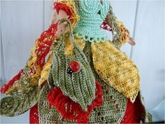 Burlap, Creations, Barbie, Reusable Tote Bags, Crochet, Image, Flower, Dress, Hessian Fabric