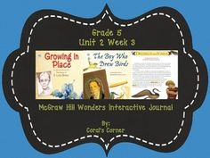 This 5th grade interactive journal is aligned to Common Core and to the McGraw Hill Wonders series for Unit 2-Week 3. This highly INTERACTIVE journal is ideal for teaching all of this week's skills in a powerful, student-friendly way!