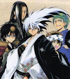 Nurarihyon No Mago (Nura: Rise of the Yokai Clan) Characters: Kuromaru, Gyuki, Rikuo, Ryota, and Zen