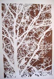 paper tree installation