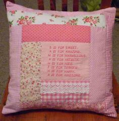 Simpleliving: Acrostic Cushions ! Birthday Gifts I Made !