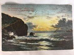 Vintage Golden Gate Entrance to San Francisco Bay, CA postcard postmarked 1910