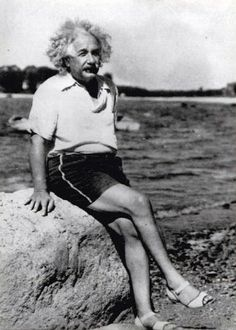 Einstein (b. 1879 Mar14, d. 1955 Apr15 @76) German/Jewish genius, humanitarian scientist...rare pix, lookin' pretty fat & fab in his high heels! he was so ugly he's cute ; ) • http://en.wikipedia.org/wiki/Albert_Einstein