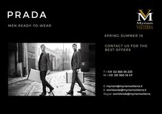 PRADA SPRING-SUMMER 16 MEN READY-TO-WEAR available for an order! Contact us to know our latest and best discounts according to your specific requirements and quantities!