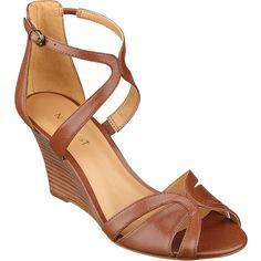 Nine West Champayne Wedge Sandals ($50) ❤ liked on Polyvore
