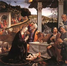 Domenico Ghirlandaio, Adoration of the Shepherds (1485) for the Sassetti Chapel in the basilica