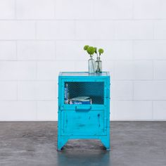 Buy Carlos Bedside Tables/Side Table, Blue eclectic nightstands and bedside tables Bright Decor, Room Color Schemes, Rustic Curtains, Diy Bed, Blue Bedroom, Furniture Design, Bedside Tables, Nightstands, Home Decor