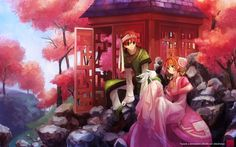 Sakura x Syaoran (Tsubasa RESERVoir CHRoNiCLE - so much effort must have gone into this wallpaper)
