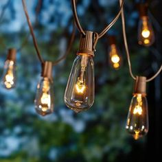 Edison style string lights 10 bulbstring by world market better homes and gardens glass edison string lights 10 count walmart aloadofball Image collections