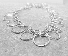 Statement Necklace Long Sterling Silver Chain by GirlBurkeStudios, $85.00