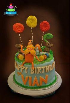 Lorax Cake - by Janani @ CakesDecor.com - cake decorating website