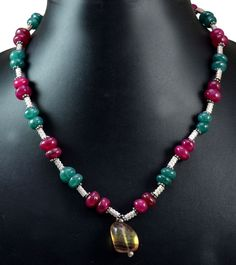 239ct Natural Semi Precious Multi Gemstone Designer Beads Necklace Faceted #KrishnaGemsNJewels #StrandString