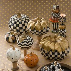 MacKenzie-Childs Dotty Pumpkin – Orange - New Deko Sites Chic Halloween, Halloween Goodies, Holidays Halloween, Halloween Crafts, Halloween Decorations, Autumn Decorations, Seasonal Decor, Halloween Ideas, Holiday Decor