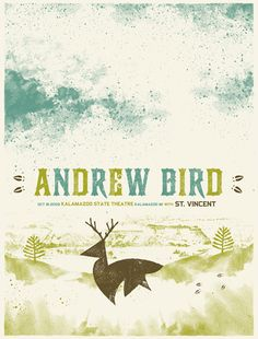 poster for andrew bird with st. vincent (wish i could have been at that concert!)