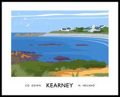 Kearney - Tourism poster art prints of Northern Ireland