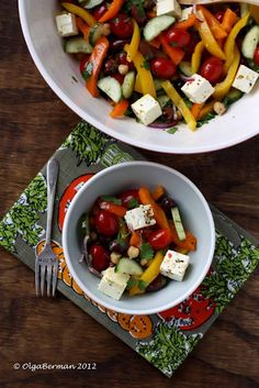 Rainbow Salad #meatlessmonday #salad #vegetarian #vegetables