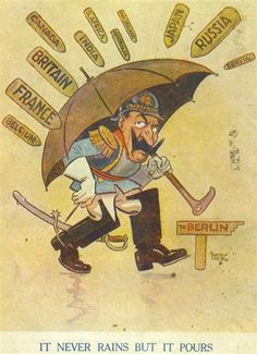 British Propaganda Postcard World War One Ww1 Propaganda Posters, World War One, Nose Art, Political Cartoons, Illustrations And Posters, Cartoon Styles, Wwi, Vintage Posters, Caricature