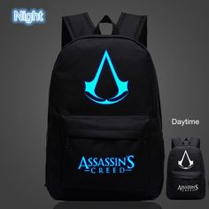 Colorful Backpacks, Kids Backpacks, School Backpacks, Asesins Creed, All Assassin's Creed, Cheap School Bags, School Bags For Girls, Game Boy, Assassins Creed Logo