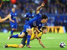 アーセナル戦に先発出場した岡崎【写真:Getty Images】 - Yahoo!ニュース(Football ZONE web)