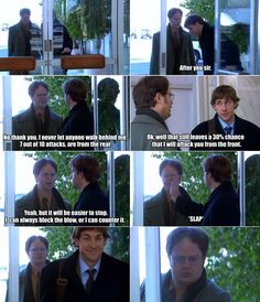 One of the best The office Jim and Dwight scenes.