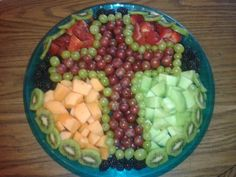 Cross fruit tray