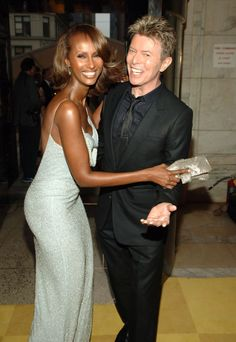 Iman and David Bowie. See the 40 other cutest celebrity couple PDA moments.
