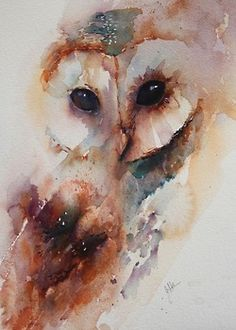 Night ride original painting art mixed media by Loriemccown, Saw this owl painting and thought it was great! I want my owl tattoo to be like. Watercolor Owl Tattoos, Owl Watercolor, Watercolour Painting, Painting & Drawing, Watercolors, Simple Watercolor, Watercolor Water, Watercolor Ideas, Art Visage