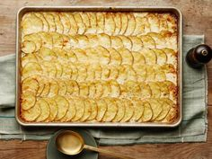 All-Crust Sheet-Pan Scalloped Potatoes Recipe : Food Network Kitchen : Food Network Paula Deen, Potato Sides, Potato Side Dishes, Ree Drummond, Food Network Recipes, Cooking Recipes, Cooking Network, Meal Recipes, Dinner Recipes