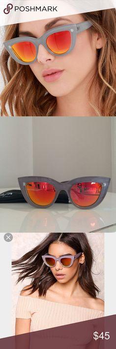 Quay Kitti Sunglasses Quay Coffee Kitti Sunglasses.  Mirrored. NWOT  Comes with soft case Quay Australia Accessories Sunglasses