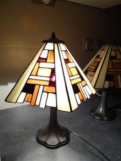 Lámpara romántica estilo marrón de Tiffany vidrieras por ArtesanaPL