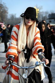 Catherin Baba orange stripes. http://www.smaggle.com/2011/11/01/turn-enters-room/ #catherinebaba