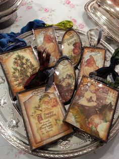 DIY: Use vintage photos and decoupage to create heirloom ornaments.
