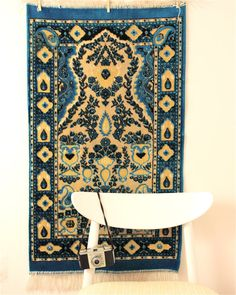 vintage rug by foundvintageobjects on Etsy, $46.00
