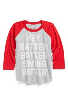 Peek 'Hey Batter' T-Shirt (Toddler Boys, Little Boys & Big Boys) available at #Nordstrom