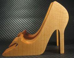 Wooden High Heel Phone Stand