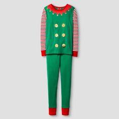 Kid's Elf Pajamas Green 6 : Target