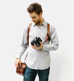 Leather Holster Camera Straps | Wootten