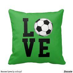 Soccer Love Throw Pillow