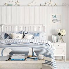 White coastal-style bedroom | White bedroom ideas | Bedroom | Decorating | PHOTO GALLERY | Housetohome.co.uk