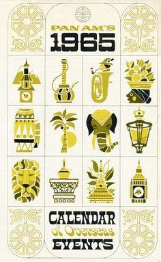 Pan Am's 1965 Calendar of Overseas Events
