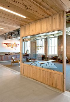 exposed brick and concrete features inside yelps san francisco headquarters box san francisco office