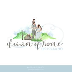 Dream-of-Home-Logo-Preview Watercolor Logo, Home Logo, Hand Painted, Logos, Learning, Movie Posters, Painting, Art, Art Background