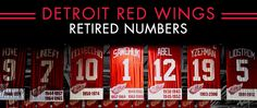 Wings in the Rafters - Detroit Red Wings - History