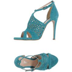 Blanco Sandals (2 040 ZAR) ❤ liked on Polyvore featuring shoes, sandals, green, genuine leather shoes, green stilettos, leather sandals, round toe shoes and green sandals