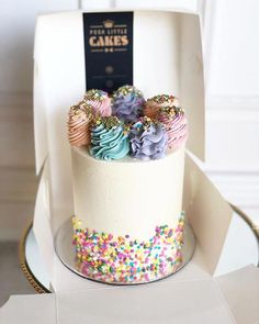 Classic Birthday Cake Poshlittlecakes Perthcakes regarding Classic Birthday Cakes - Party Supplies Ideas Gorgeous Cakes, Pretty Cakes, Amazing Cakes, Cupcakes, Cupcake Cakes, Small Birthday Cakes, Birthday Cake Design, Designer Birthday Cakes, Creative Birthday Cakes