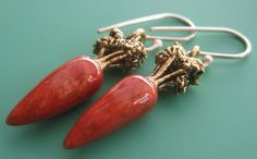 Carrot Earrings by sudlow on Etsy, $25.00
