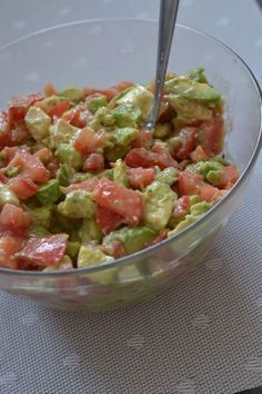 My Barbecue Avocado Salad - Sunday Dessert - Cuisine - Raw Food Recipes Grilling Recipes, Raw Food Recipes, Snack Recipes, Cooking Recipes, Healthy Recipes, Healthy Grilling, Cooking Food, Salad Dressing Recipes, Salad Recipes