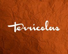 Terricolas by Ricardo Barroz Bar Logo, Logo Restaurant, Logo Inspiration, Brand Identity, Typography, Neon Signs, Simple, Nice Asses, Letterpresses