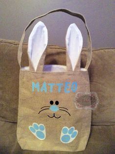 Personalized Easter Basket Burlap Easter Basket by KidzKlothezline